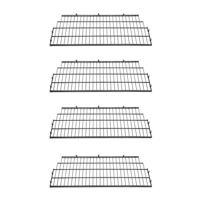 4 x BMSA7S Suncast Vertical Storage Shed Metal Wire Rack (4 Pack)