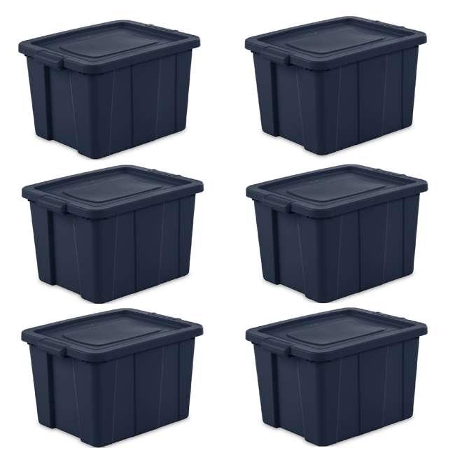 6 x 16788N06 Sterilite Tuff1 18 Gallon Plastic Storage Tote Container Bin w/ Lid (6 Pack)