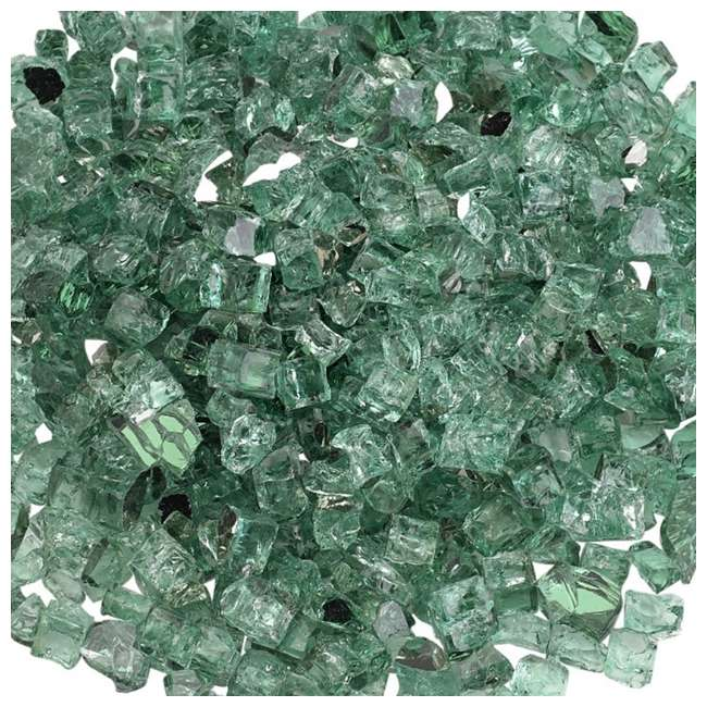 AFF-EVGRRF12-10 American Fireglass 10 LB Bag 1/4 Inch Reflective Fireplace & Pit Glass, Black 2