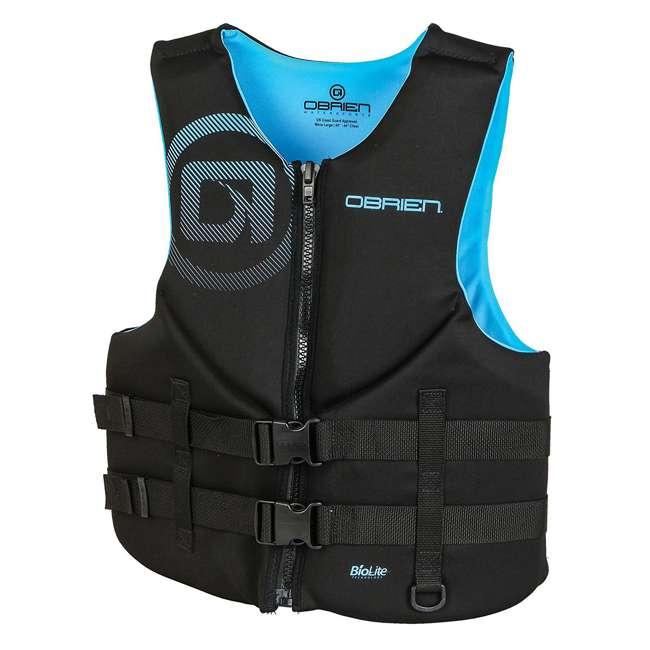2181996-MW OBrien Men's Neoprene Life Vest Size XLarge, Cyan (2 Pack) 1