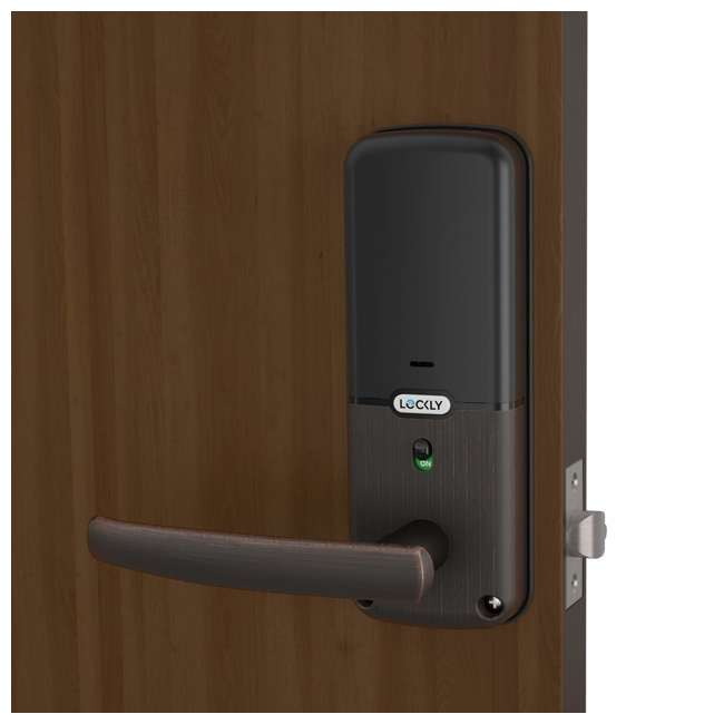 PGD628FVB Lockly PGD628 Bluetooth Keyless Entry Touchscreen Door Handle, Venetian Bronze (2 Pack) 3