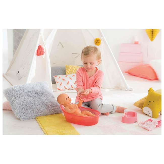 FPK23 + FRV17 Corolle Mon Grand Poupon Drink & Wet Potty Training Emma Doll and Toy Stroller 5