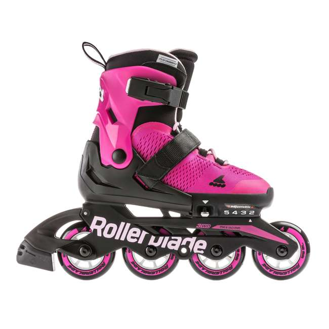 079573007G4-5 Rollerblade USA Microblade Girls Adjustable Inline Skate, Size 5