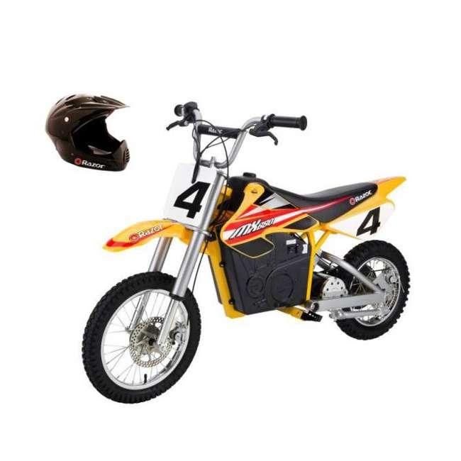 15165070 + 97775 Razor MX650 Dirt Rocket Electric Moto Bike & Full Face Helmet