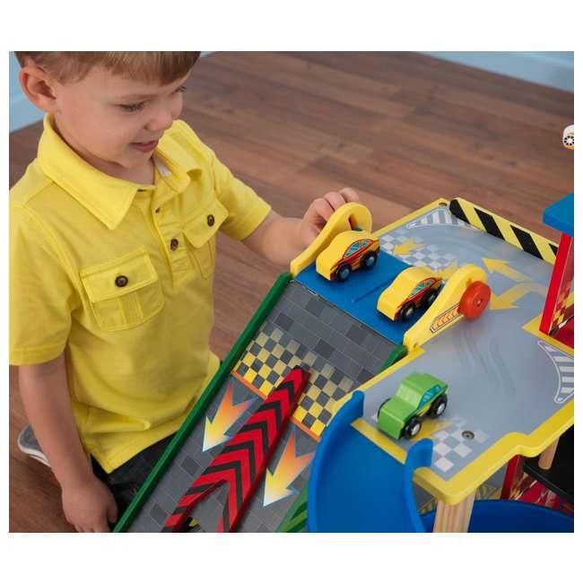 63267-U-A KidKraft Kids Mega Ramp Racing Set for Matchbox and Hotwheels Cars (Open Box) 3