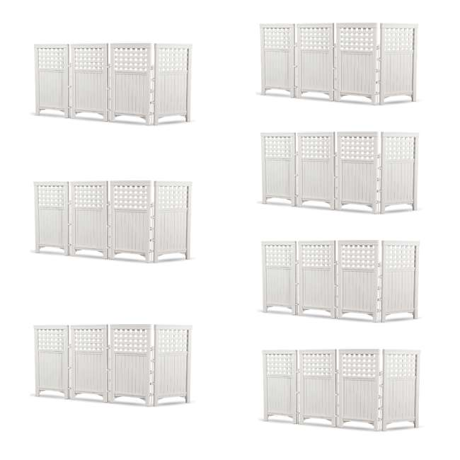 7 x FS4423D Suncast Outdoor Screen Enclosure 4-Panel Fence (7 Pack)