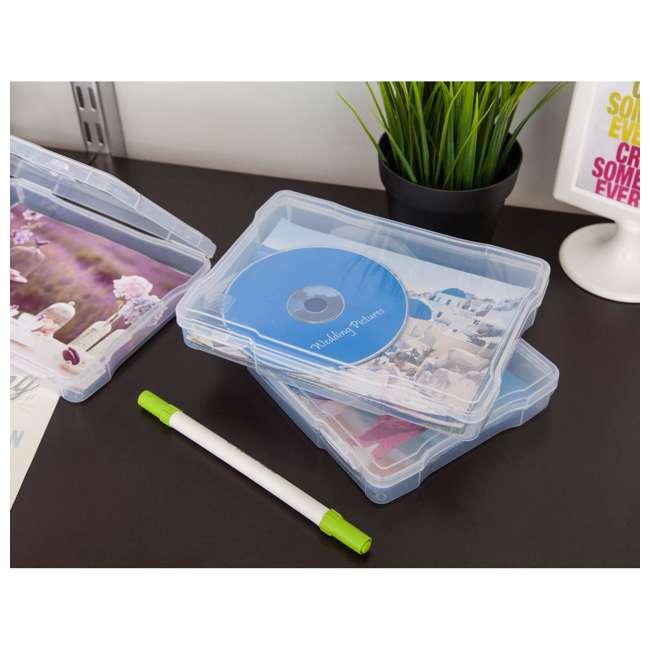 585140 IRIS 585140 5 x 7 Inch Large Photo Craft Keeper Storage Box Organizer, Clear 3