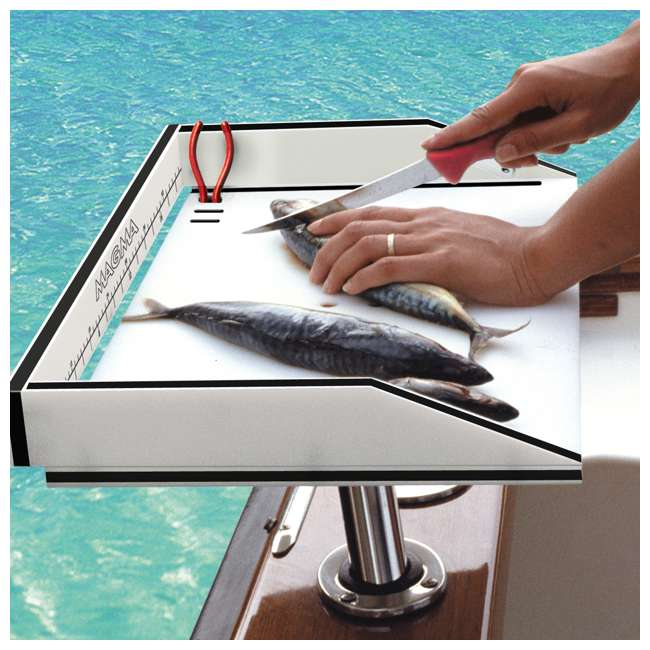 """T10-312B Magma Boat Marine 20"""" Bait/Filet Mate Fish Cleaning Cutting Table Board & Mount 1"""