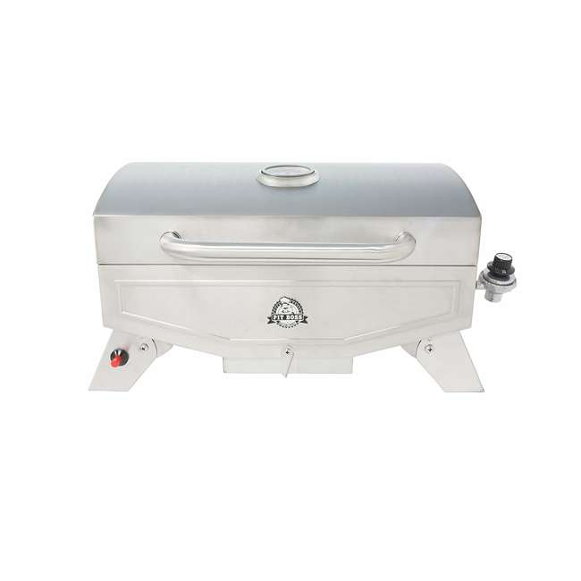 75275 Pit Boss Grills Stainless Steel Portable 2 Rack Propane Gas Grill, 1 Burner