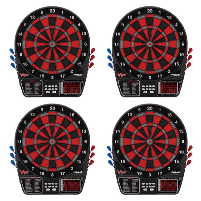 4 x VIP42-1017 Viper 797 Electronic Soft Tip Dartboard with Darts (4 Pack)
