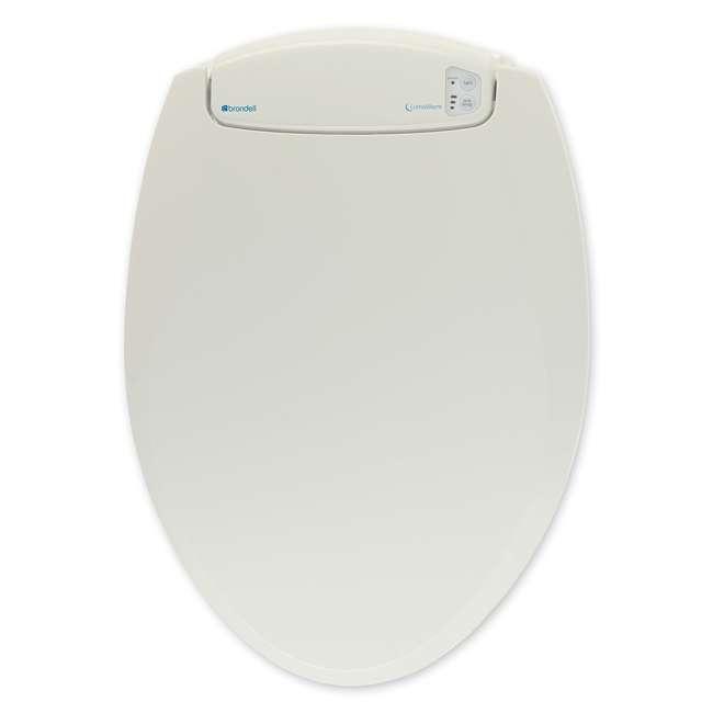 L60-EB Brondell LumaWarm Heated Nightlight Toilet Seat, Biscuit