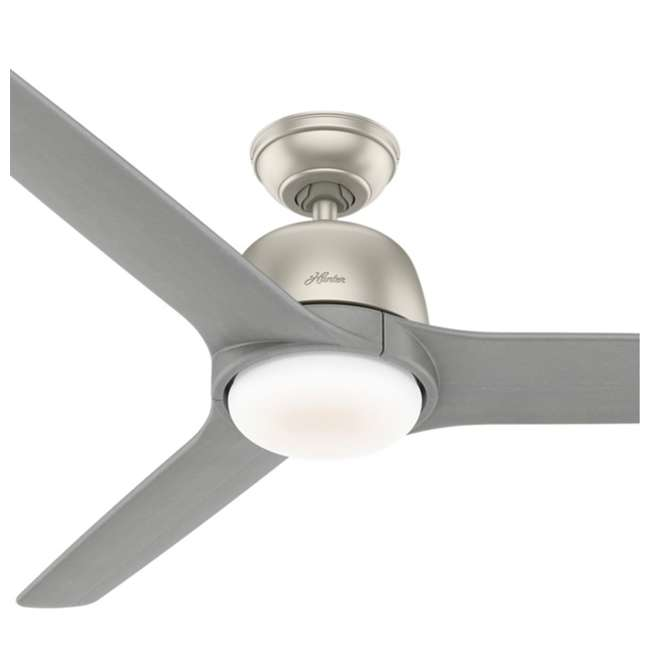 59424 Hunter Fan Company Norden 54-Inch Multiple Speeds Ceiling Fan, Matte Nickel 2