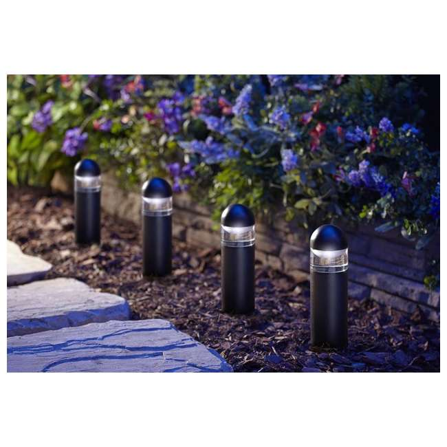 MR-95555 Moonrays 95555 Metal Outdoor 1 Watt 24 Lumen LED Bollard Landscaping Path Light 1