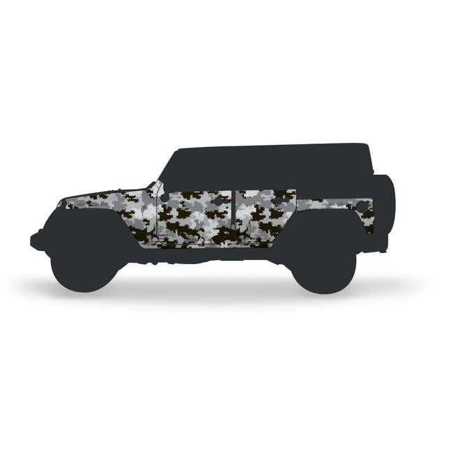 JPJKU4D-DIGI Rhinohide Jeep Wrangler JK 4x4 4-Door Magnetic Body Armor Panels, Digi Camo