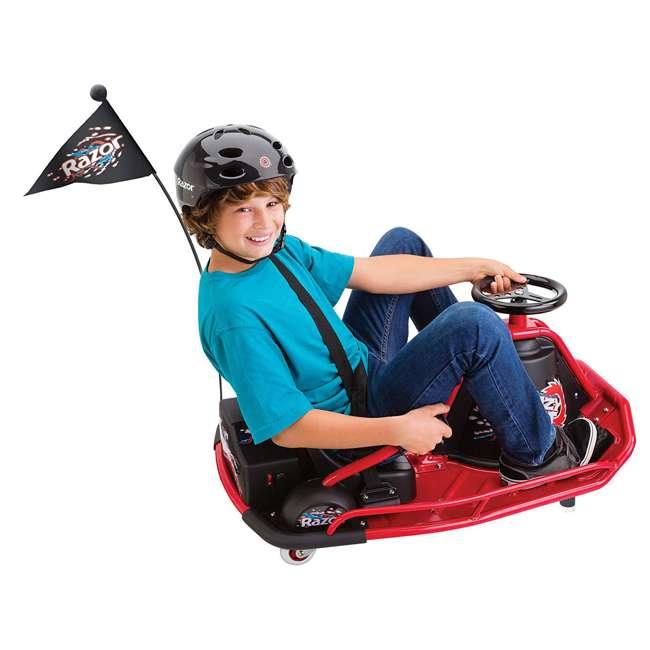 25143499 Razor Crazy Cart Electric 360 Spinning Drifting Ride On Go Cart  1