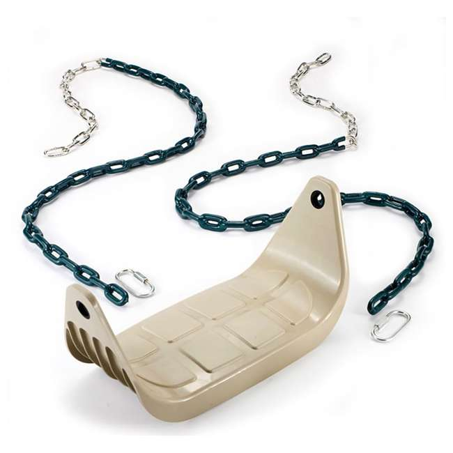 PS 7946 PlayStar PS7946 Children's Rigid Plastic Swing Seat with Covered Chains, Beige 1
