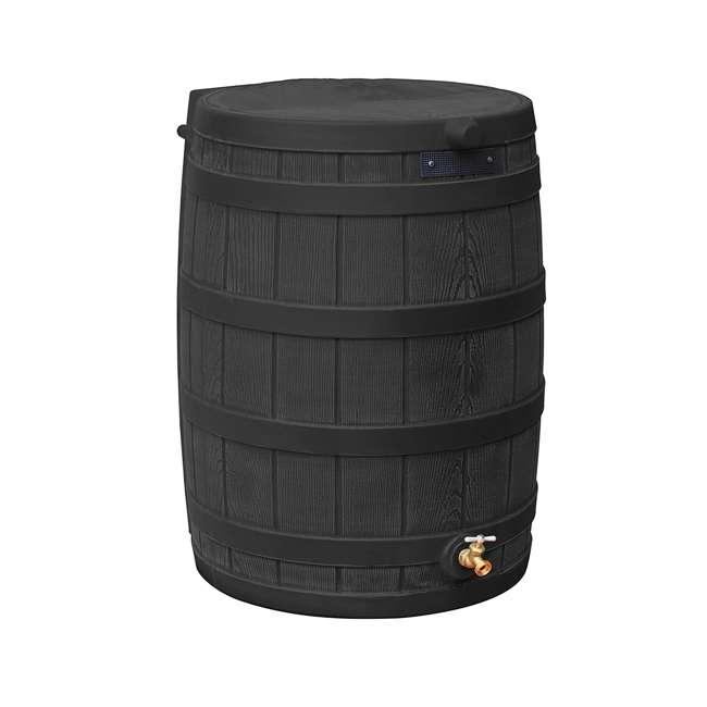 RW50-DIV-BLK Good Ideas Rain Wizard Rain Collection Barrel 50-Gallon w/ Diverter Kit, Black 1