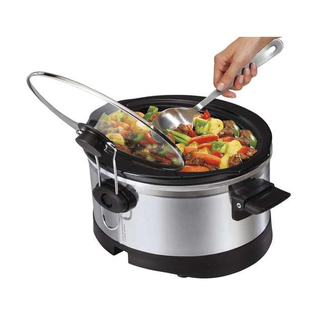 33564 + 33101 Hamilton Beach Digital Slow Cooker & 16-Oz Party Dip Food Warmer 4