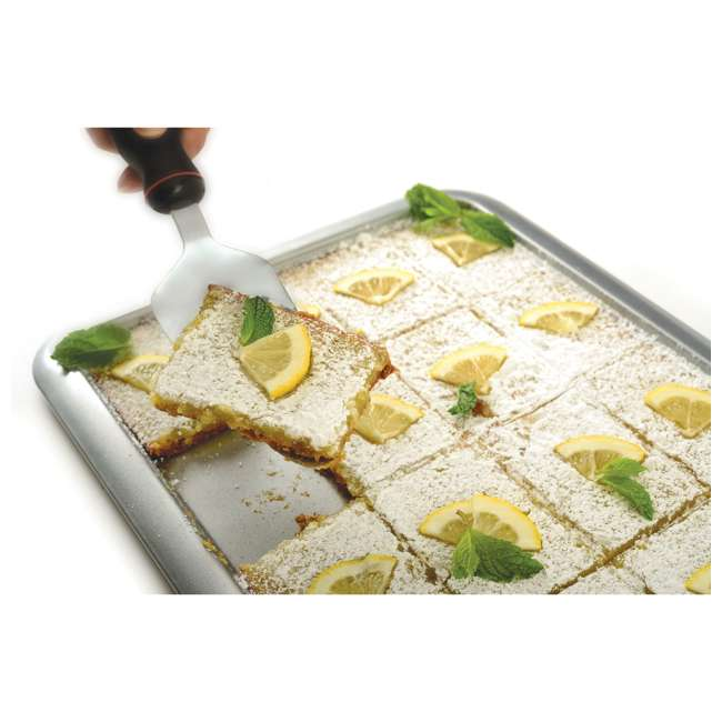 """3877 Norpro Non Stick 16.5"""" Steel Rimmed Full Baking Cookie Sheet, Silver (2 Pack) 4"""