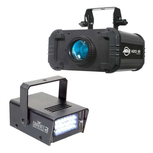 H2O-IR + MINISTROBE-LED American DJ H2O Water Light Effect and Chauvet Mini Strobe