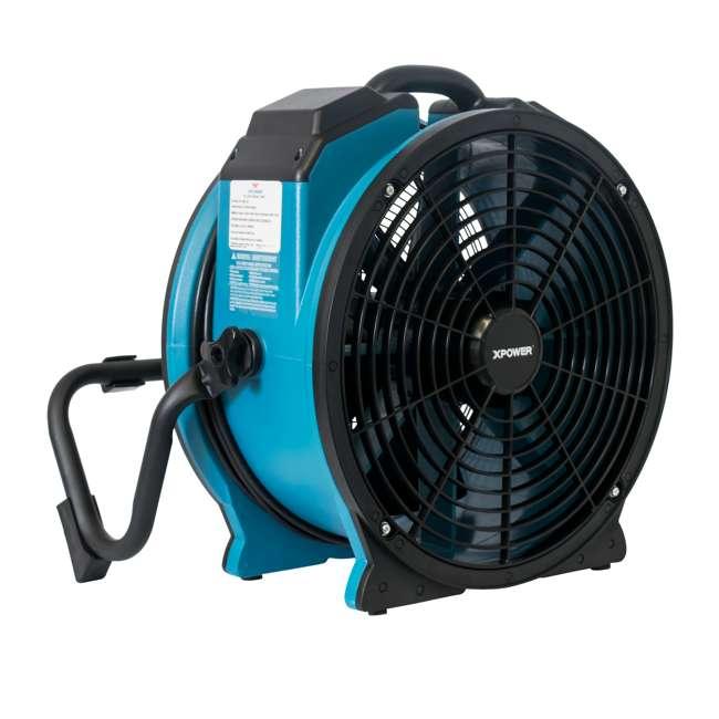 FC-420 XPOWER FC-420 Pro Air 18 Inch 3600 CFM 360 Degree Rotation Utility Fan, Blue 3