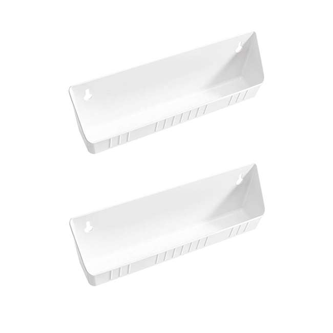 6572-14-11-52 Rev A Shelf 14 Inch Kitchen Sink Front Tip Out Trays and Hinges, White (2 Pack)