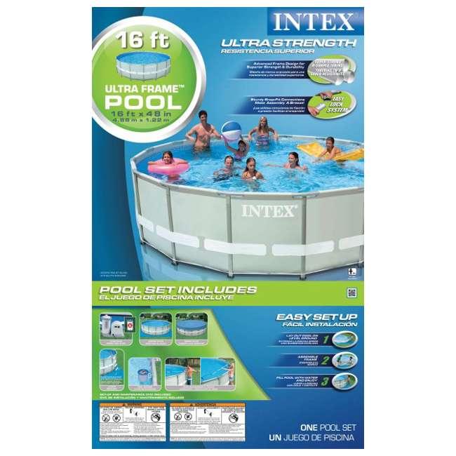Intex 16 39 X 48 Ultra Frame Swimming Pool Complete Set 1500 Gph Pump 54451eg