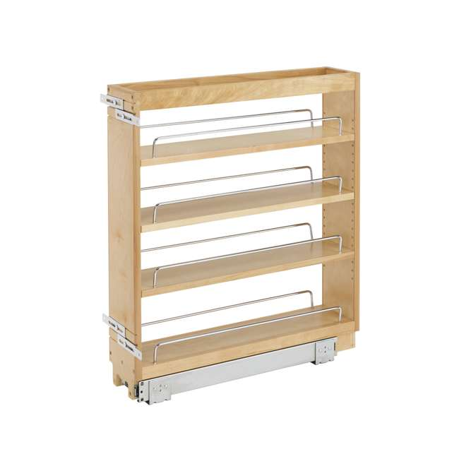 448-BC-5C-28 Rev A Shelf 5 Inch Wood Base Kitchen Cabinet Organizer, Maple