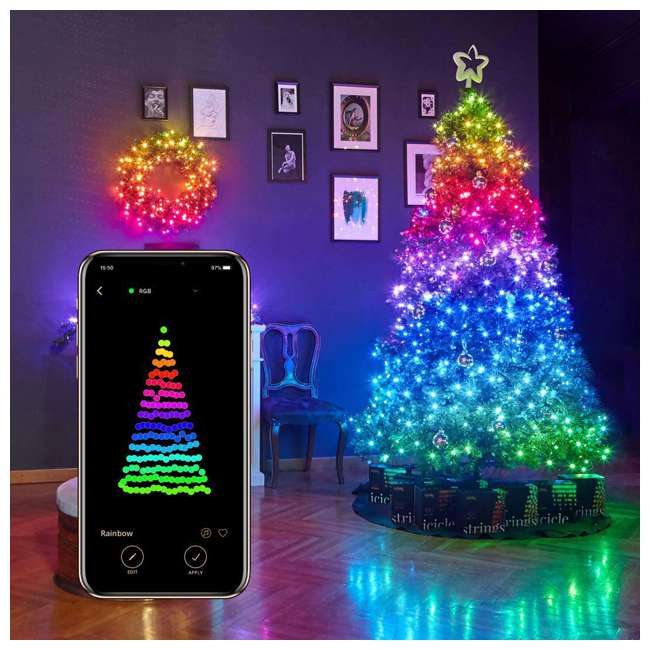 TWS400STP-BUS Twinkly Smart Decorations Custom 400 Bulb LED RGB App-Controlled String Lights 2