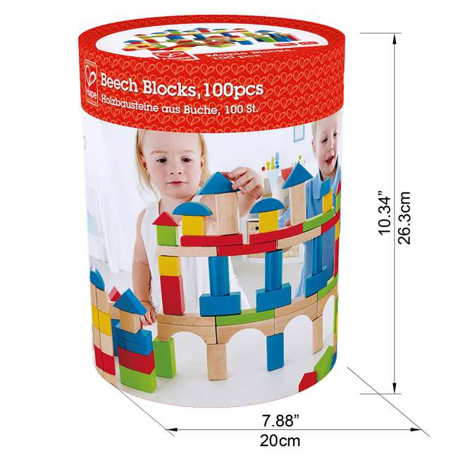 4 x HAP-E0427 Hape Kid's Build Up and Away Wood Blocks Toy Set (4 Pack) 6