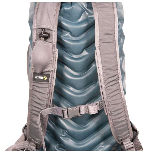 12SPBL01C Klymit 210D Nylon Waterproof Ultra-Lightweight Splash 25 Day Backpack, Blue 3
