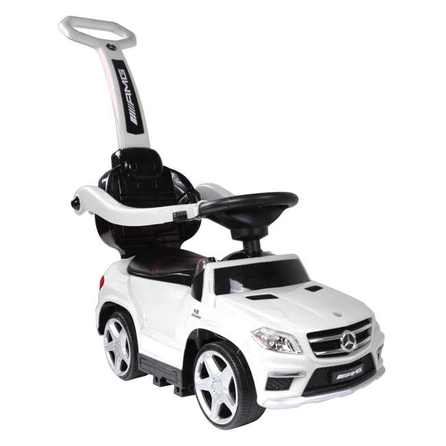 4 in 1 Mercedes Push Car White Best Ride On Cars Baby 4 in 1 Mercedes Push Vehicle, Stroller, & Rocker, White