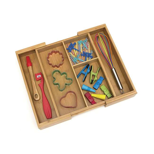 4 x LP-8893 Lipper Bamboo Expandable Gadget Organizer Tray (4 Pack) 5