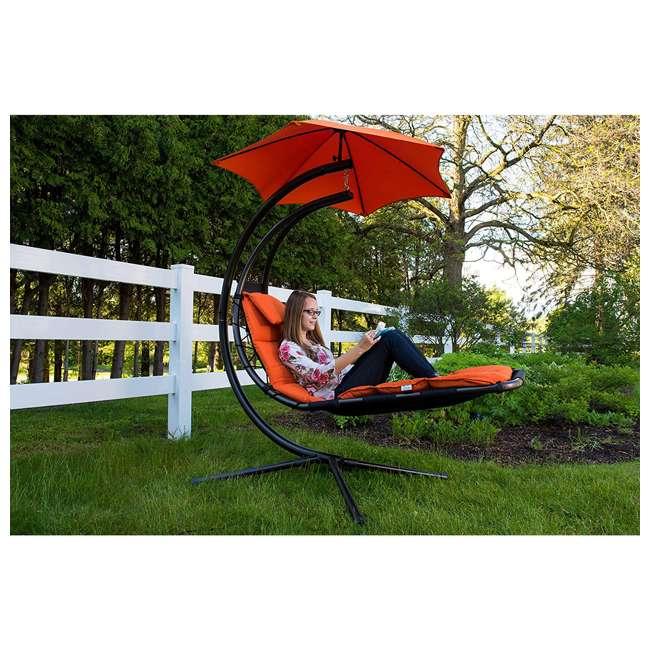 DREAM-OZ Vivere The Original Dream Lounger Steel Backyard Patio Deck Chair, Orange Zest 4