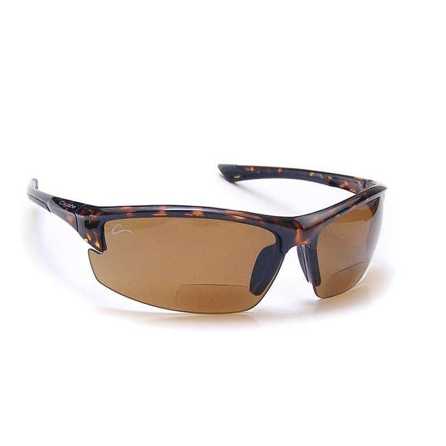 BP-7 +2.00 tortoise/brown Coyote Eyewear BP-7 +2.00 Polarized Reader Premium Sunglasses, Tortoise & Brown