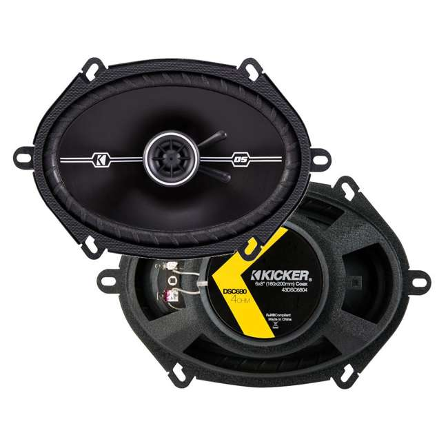 43DSC6804 4) Kicker 43DSC6804 D-Series 6x8-Inch 200W Speakers  1