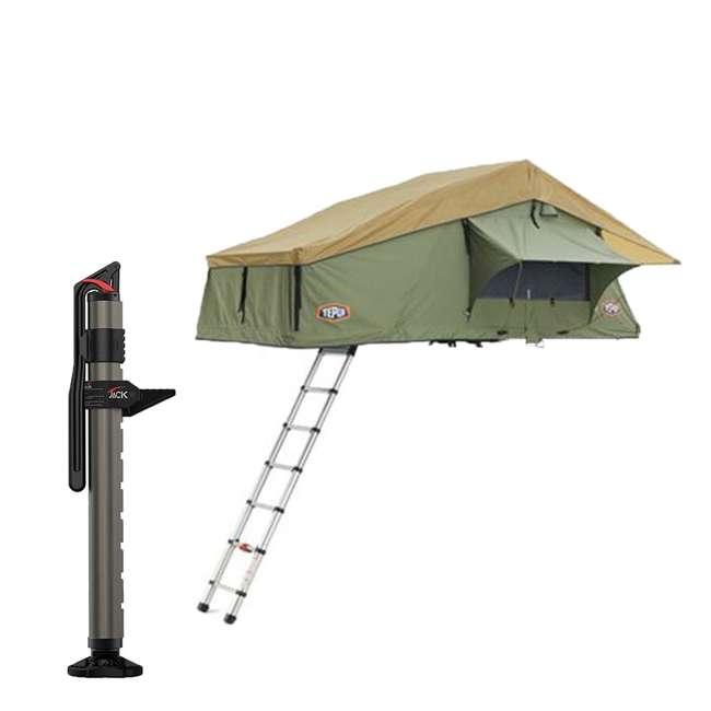 01ASK051601 + 1060001 Tepui Tents Explorer Series Autana 3 Person Car Truck Camp Roof Top Tent & Jack