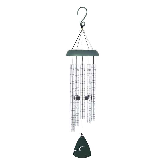 62913 Carson Home Accents 62913 Always Near 30 Inch Sonnet Memorial Wind Chime, Silver