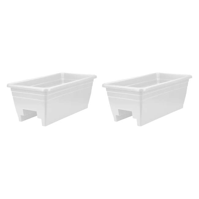 SPX24DBOA10 HC Companies Durable 24-Inch Width Akro Deck Rail Box Planter & Plugs (2 Pack)