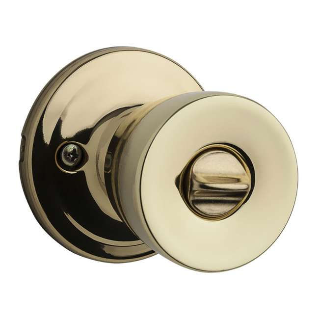 6 x 97402-798 Kwikset Abbey Keyed Locking Handle Door Knob Set, Polished Brass (6 Pack) 2