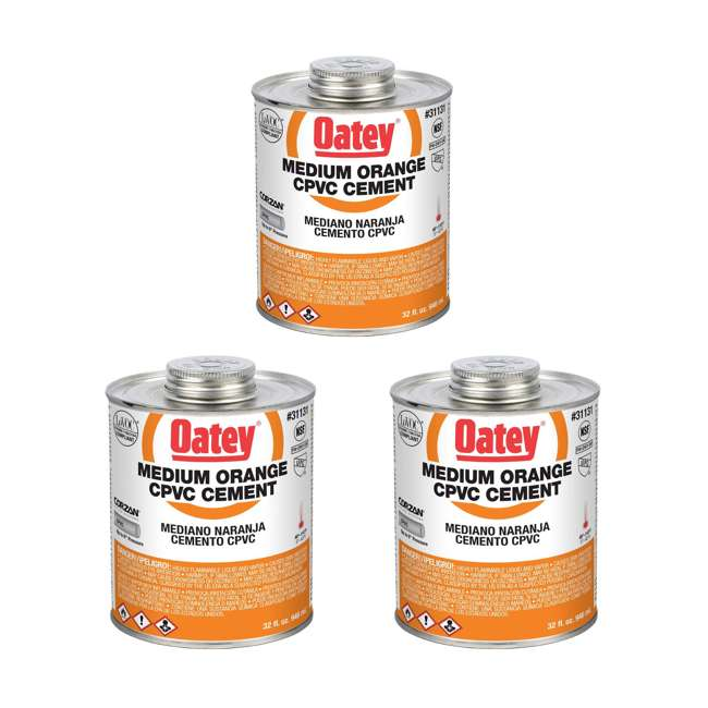 3 x 31131 Oatey 31131 32 Oz. CPVC Orange Solvent Cement (3 Pack)
