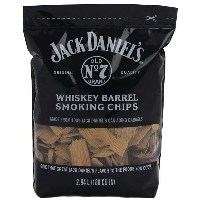 4 x 1749 Jack Daniel's Whiskey Barrel Smoking Oak Wood Chips, 180 Cubic Inches (4 Pack) 1