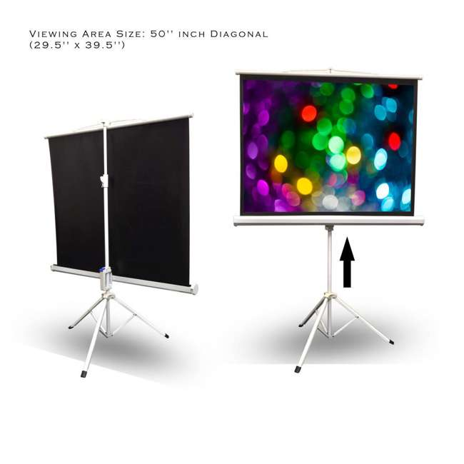 PRJTP52 Pyle 50-Inch Projector Viewing Fold-Out & Roll-Up Display Screen 2