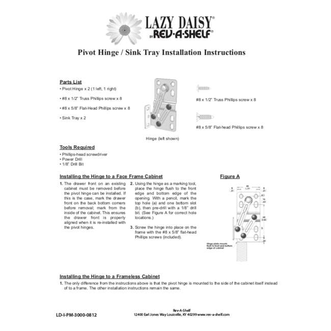 LD-6591-22-11-1 Rev-A-Shelf LD-6591-22-11-1 22 Inch White Polymer Lazy Daisy Sink Tip Out Tray 2