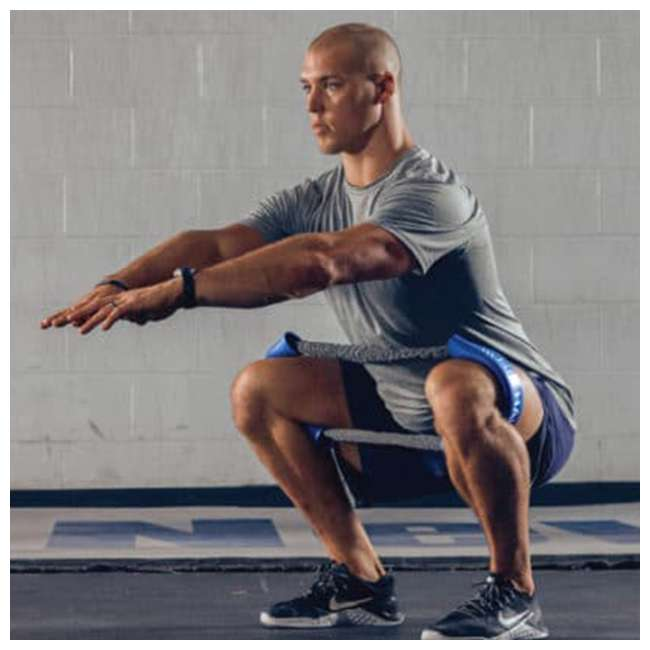 HH-B Crossover Symmetry CS Hip and Core Loop Heavy Resistance Band System, Blue 2