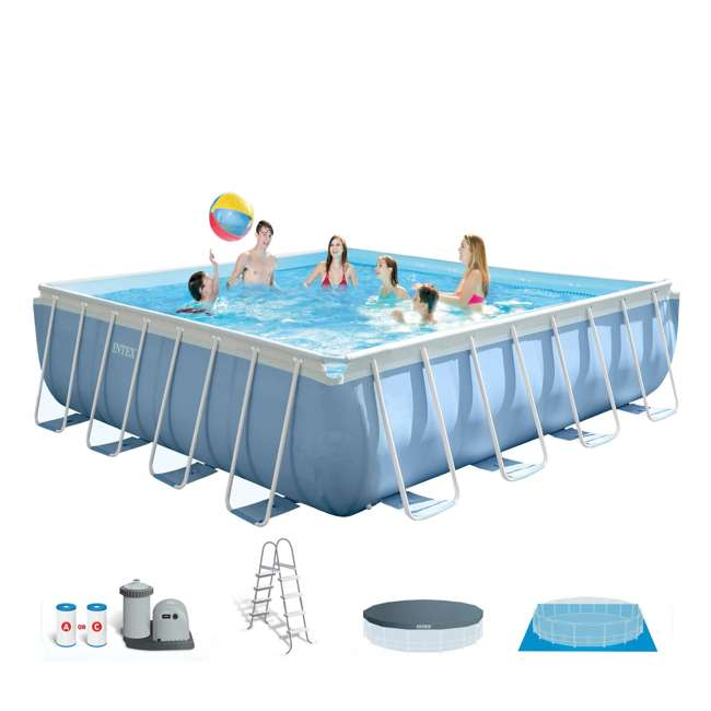 Intex 14 feet x 14 feet x 42 inches prism frame square for Intex pool handler