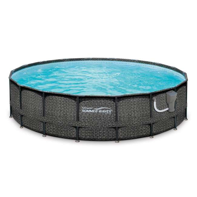 "P4A01848B167 + 28001E Summer Waves Elite 18' x 48"" Above Ground Frame Pool Set + Intex Automatic Above Ground Pool Vacuum  2"