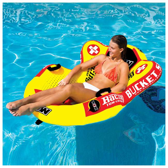 14-1090 WOW Watersports 14-1090 Bucket Seat Single Person Towable Tube with Handles 5