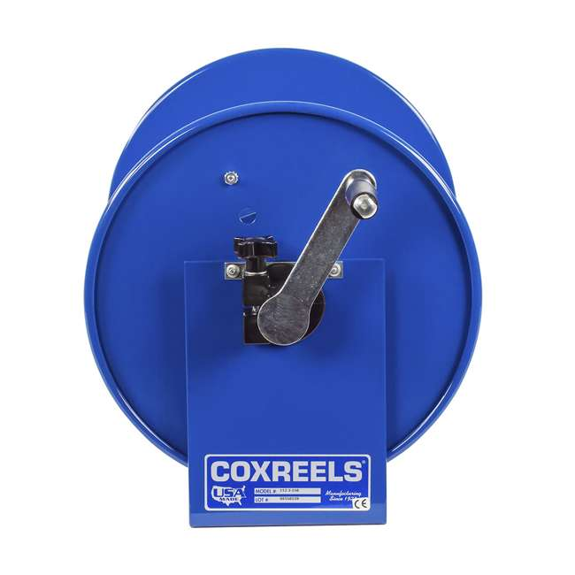 112-3-150 Coxreels 100 Series Compact Hand Crank Water and Air Hose Reel, Blue 3