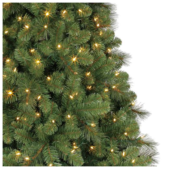 TG70M3W92D00 + GX1623U22F23 Home Heritage 7 Foot Artificial Cascade Pine Christmas Tree with Rotating Stand 5